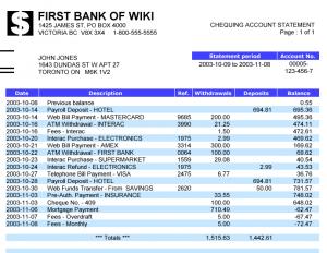 Bank statement mortgage loan