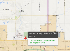 Erie, CO USDA eligible property